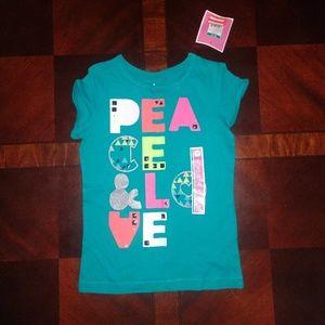 NWT Girl's Circo Peace & Love t-shirt size Medium